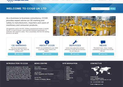 Redesigned Website for CCQS UK Ltd