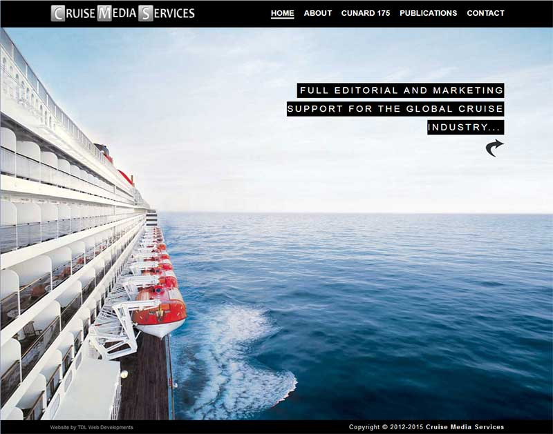 Screenshot of the Cruise Media Services Website