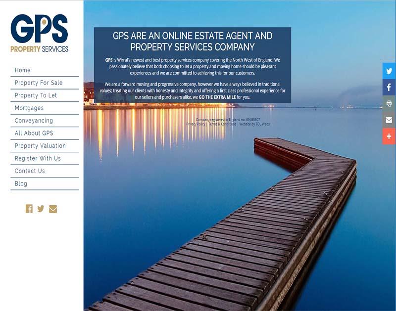 Screenshot of GPS Wirral Website