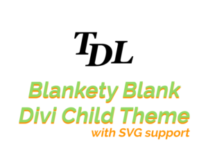 Divi Child Theme with SVG Support